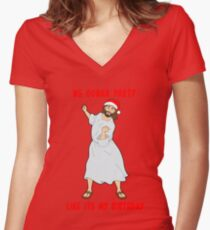 GO JESUS! ITS YOUR BIRTHDAY! Women's Fitted V-Neck T-Shirt