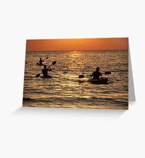 Kayaking at Sunset Palolem Greeting Card