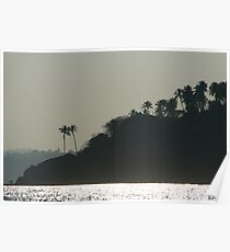 Palm Trees on Monkey Island Poster
