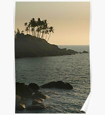 Palm Trees on the Point Palolem Poster