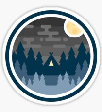 Woods Badge - Night Sticker
