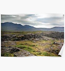 Crazy views of Iceland, Þingvellir. Poster