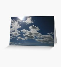 Clouds on a summers day Greeting Card