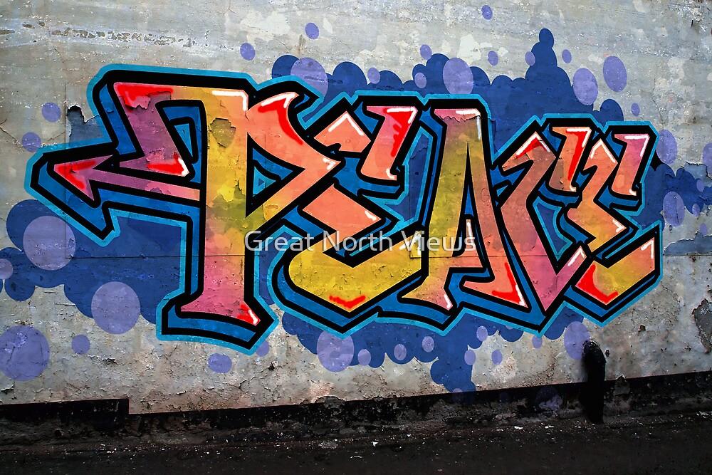 PEACE Graffiti by Great North Views