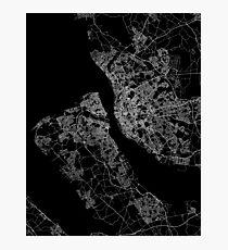 Liverpool map England Photographic Print