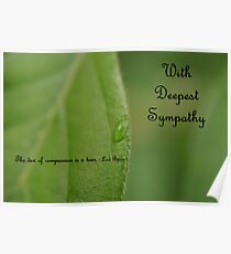 Sympathy Card 1 Poster