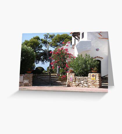 House And Garden In Cala Galdana  Greeting Card