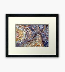 sandstone layer art Framed Print