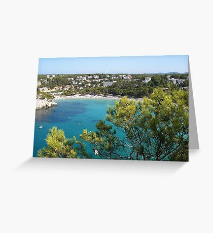 Cala Galdana From The House On The Cliff Greeting Card