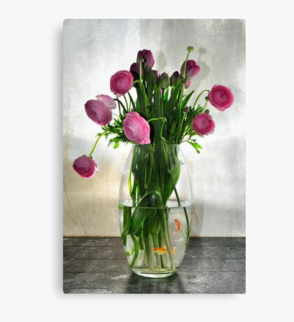 Fish and Flowers Canvas Print