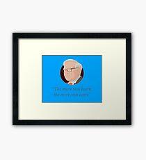 Zitat von Warren Buffett Gerahmtes Wandbild