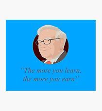 Warren Buffett quote Photographic Print