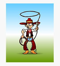 Cowboy with a lasso Photographic Print