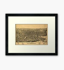 Panoramic Maps 1899 Plattsburgh NY Framed Print