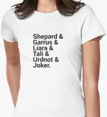 Mass Effect Character Names Women's Fitted T-Shirt