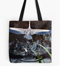 Great Blue Heron Taking Off - Beauty In Motion Tote Bag
