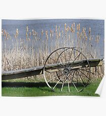 Cat Tails & Wagon Wheels Poster