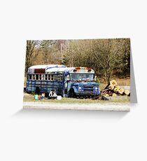 Abandoned Bus Greeting Card