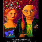 'Hillbilly Hippies' Titled Greeting Card or Small Print by luvapples downunder/ Norval Arbogast