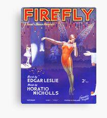 FIREFLY (vintage illustration) Canvas Print