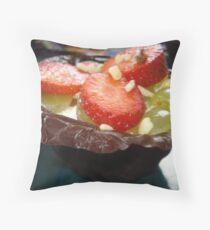 Chocolate & fruit Throw Pillow