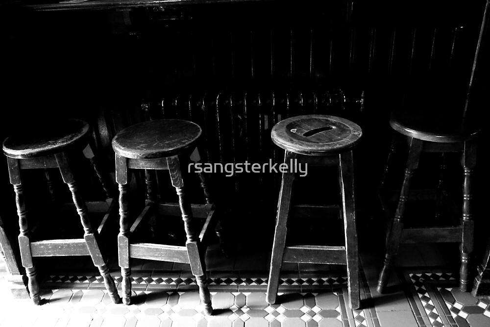 Dublin - The Temple Bar - Bar Stools by rsangsterkelly