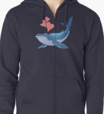 Whale Love! Zipped Hoodie