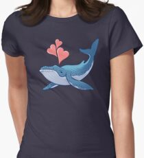 Whale Love! Women's Fitted T-Shirt