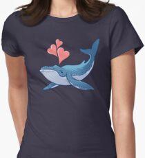 Wal-Liebe! Tailliertes T-Shirt für Frauen