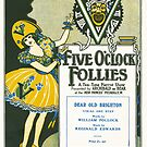 """FIVE O'CLOCK FOLLIES """"Dear Old Brighton"""" (vintage illustration) by ART INSPIRED BY MUSIC"""