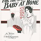 FOR THE SAKE OF THE BABY AT HOME (vintage illustration) by ART INSPIRED BY MUSIC