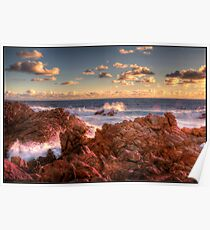 Canal Rocks Sunset Poster