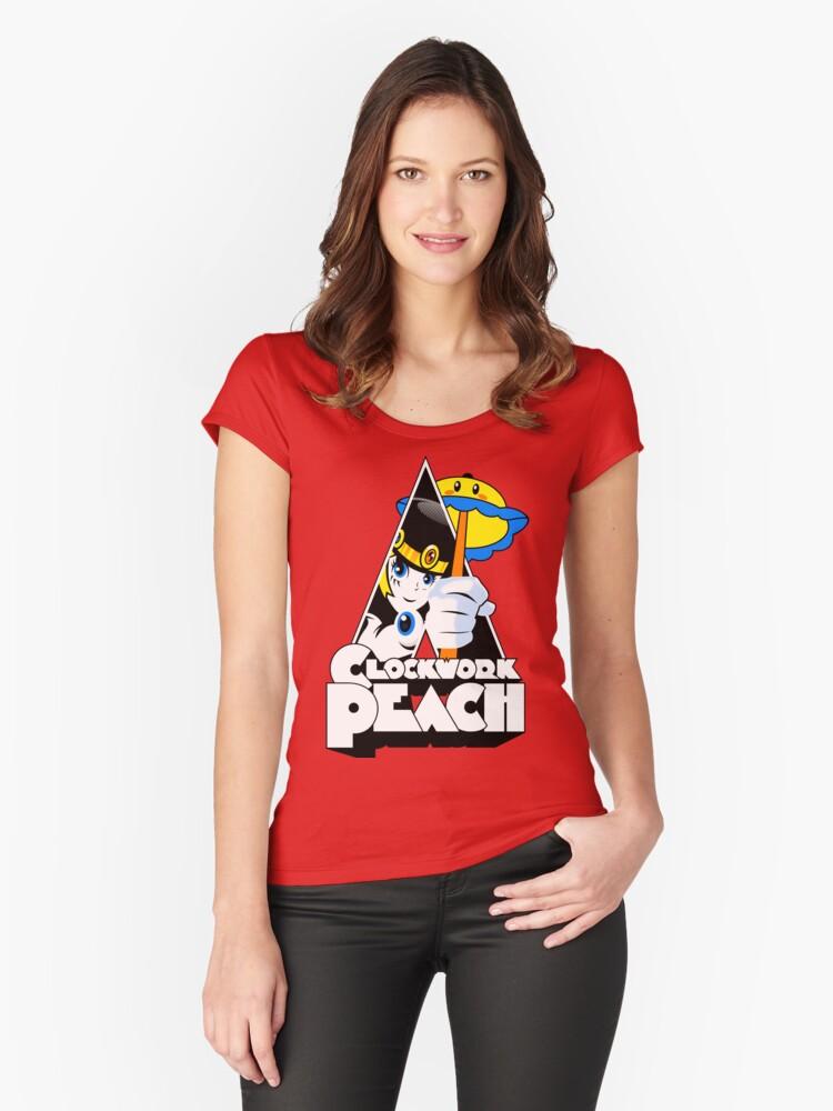 Clockwork Peach Women's Fitted Scoop T-Shirt Front