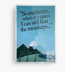 I can still hear the monkeys - Poster Metal Print