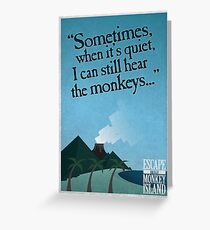 I can still hear the monkeys - Poster Greeting Card