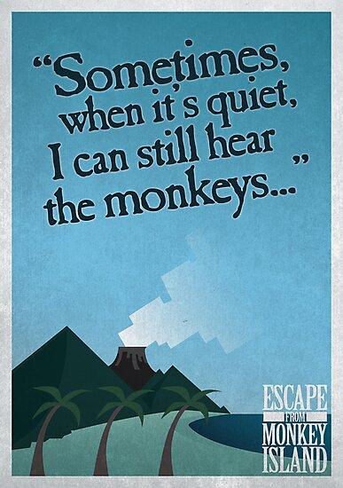 I can still hear the monkeys - Poster by severodan
