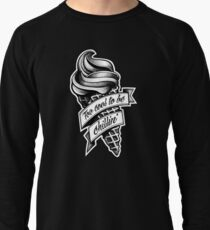 Too Cool... black and white Lightweight Sweatshirt
