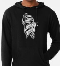 Too Cool... black and white Lightweight Hoodie