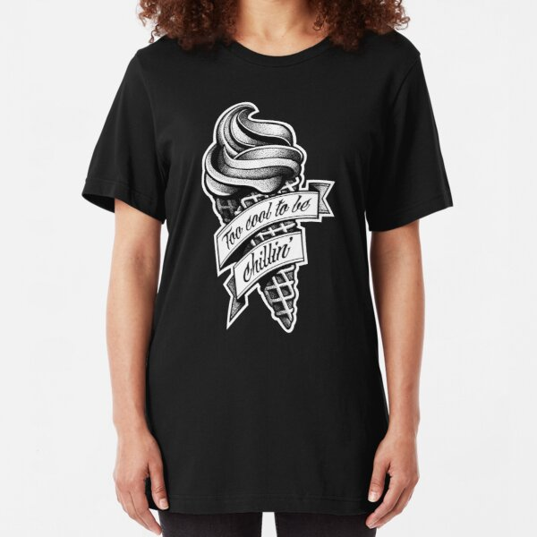 Too Cool... black and white Slim Fit T-Shirt
