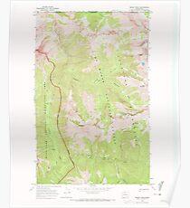 USGS Topo Map Washington State WA Skagit Peak 243737 1969 24000 Poster