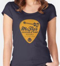 McFly's Repairs - Orange Women's Fitted Scoop T-Shirt