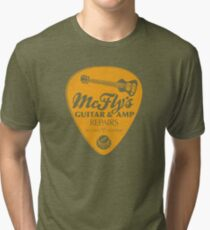 McFly's Repairs - Orange Tri-blend T-Shirt