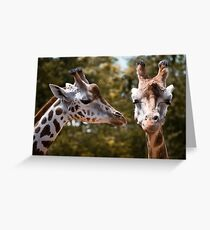 Secret Giraffe Greeting Card