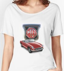 MGB in Red Women's Relaxed Fit T-Shirt