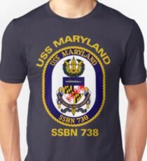 USS Maryland (SSBN-738) Crest for Dark Colors T-Shirt