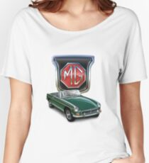 MGB British Racing Green Women's Relaxed Fit T-Shirt