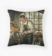 The Leatherworker Throw Pillow