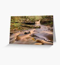 Cauldron Falls, West Burton Greeting Card