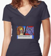 Battle to the Death Women's Fitted V-Neck T-Shirt