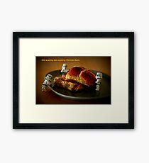 Hot cross buns Framed Print
